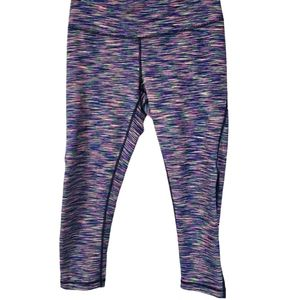 Zella Multicolor Sheer Panels Active Crop Leggings